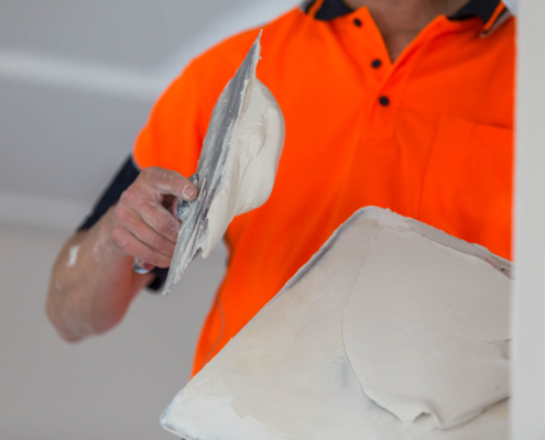 Application of Plaster Compound
